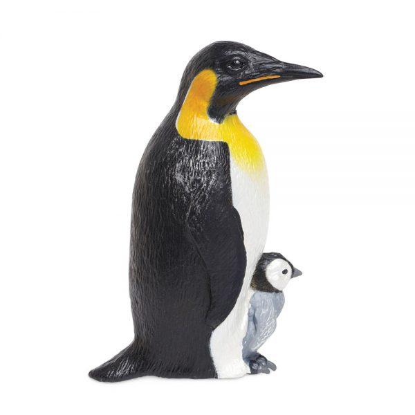 פינגווין קיסרי עם תינוק