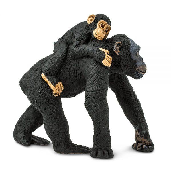 שימפנזה עם גור