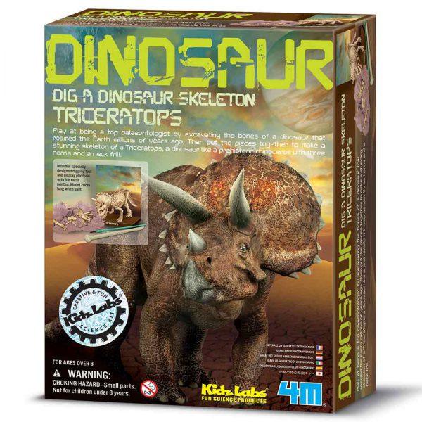חפירת שלד דינוזאור טריצרטופס אריזה
