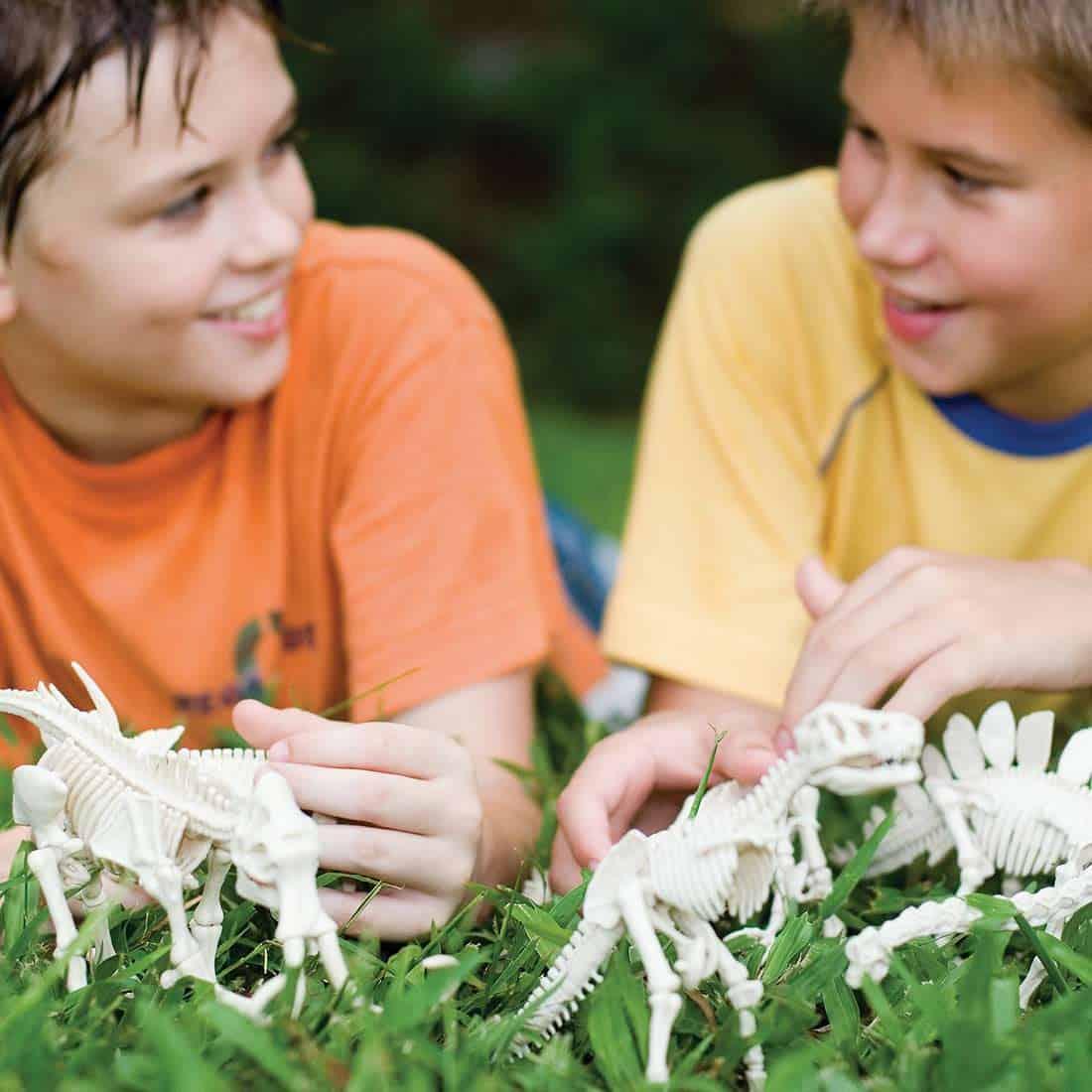 חפירת שלד דינוזאור ילדים משחקים