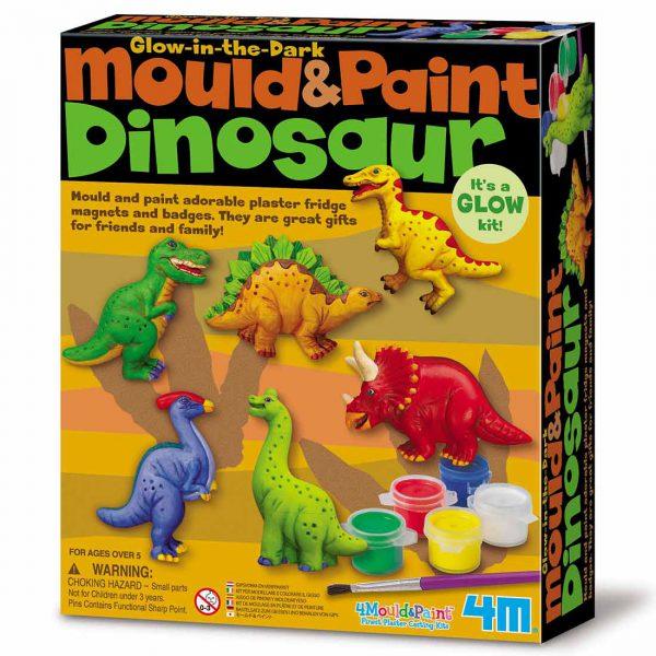 מגנטים גבס - דינוזאורים זוהרים
