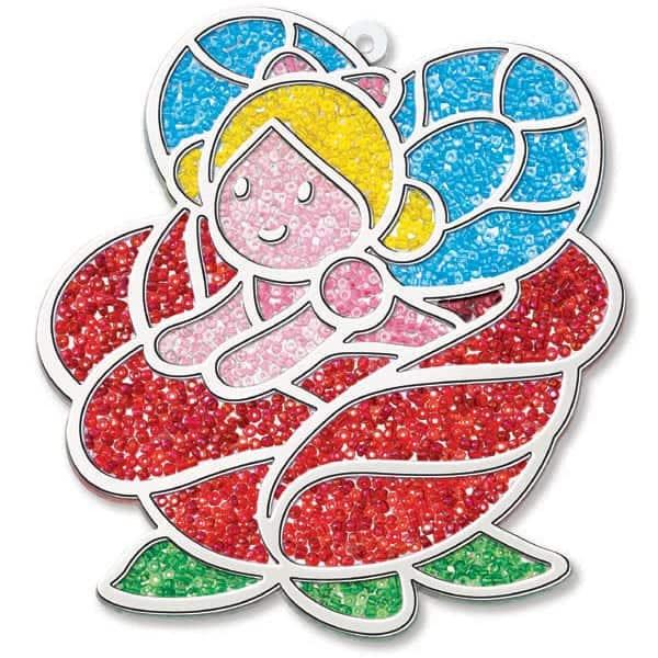 ויטראז' בחרוזים פיה על פרח