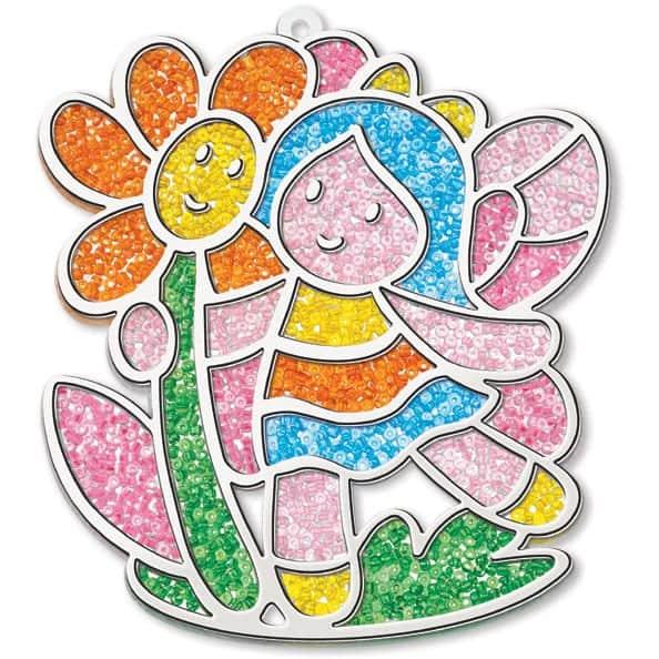 ויטראז' בחרוזים פיה עם פרח
