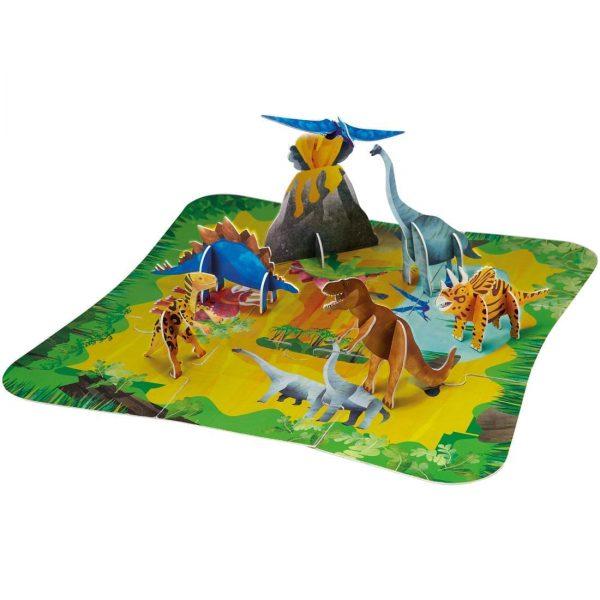 פאזל רצפה תלת מימדי דינוזאורים