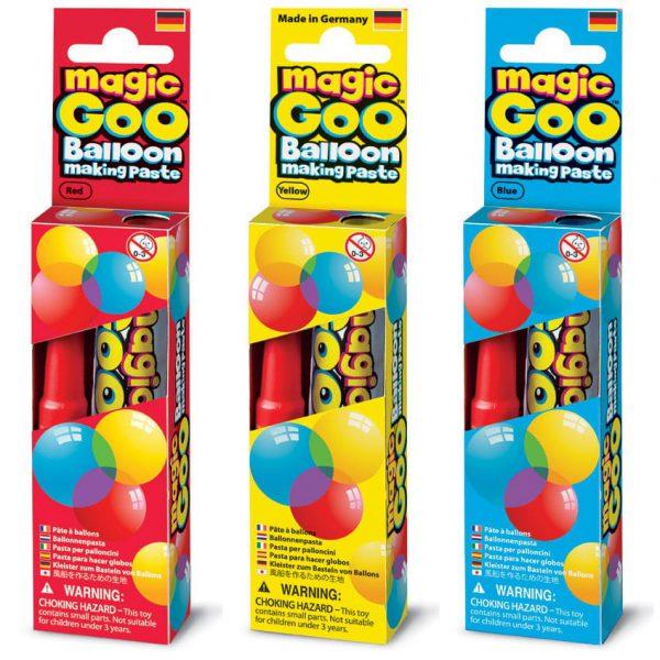 משחה ליצירת בלונים Magic Goo שלושה צבעים