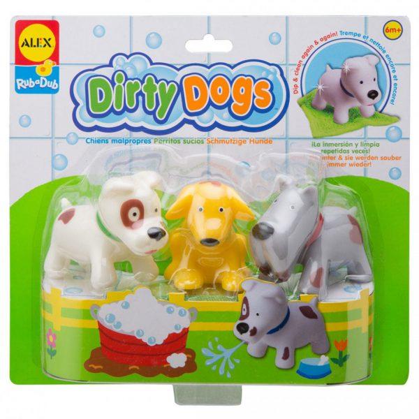 צעצועי אמבט - כלבים מלוכלכים