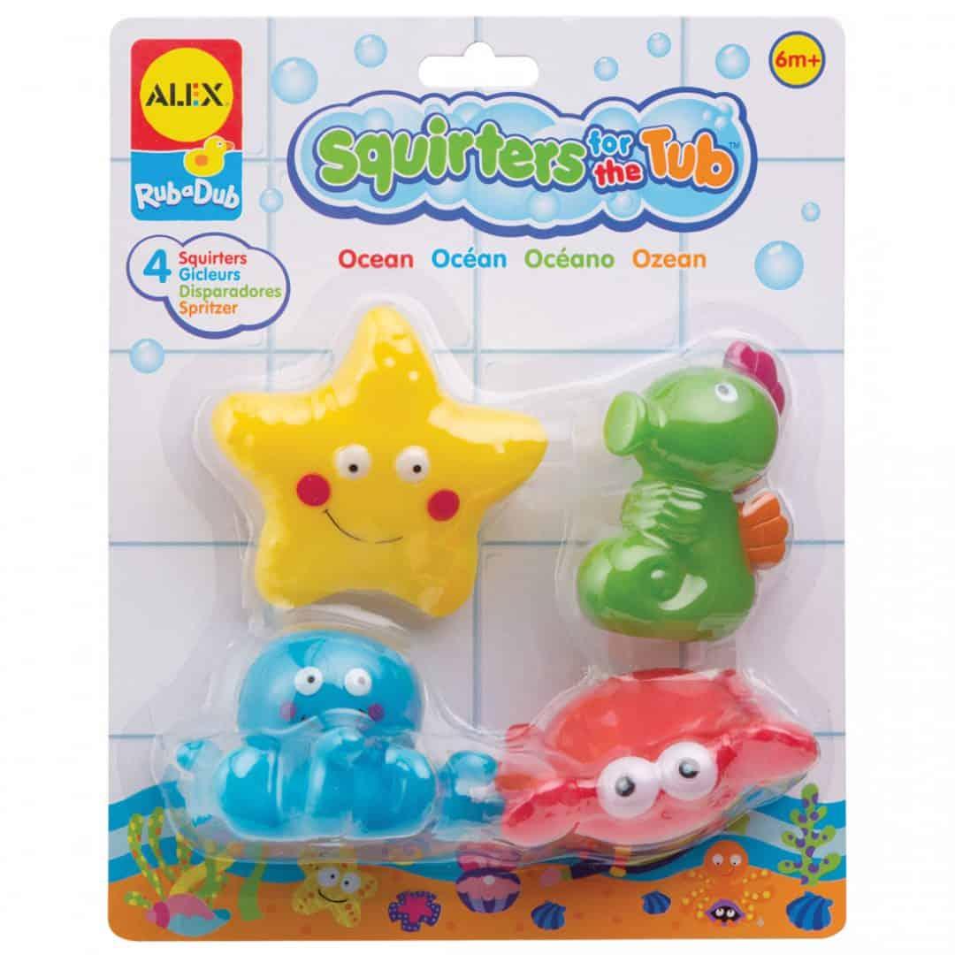 צעצועי אמבט - דמויות האוקיינוס המתרוצצות