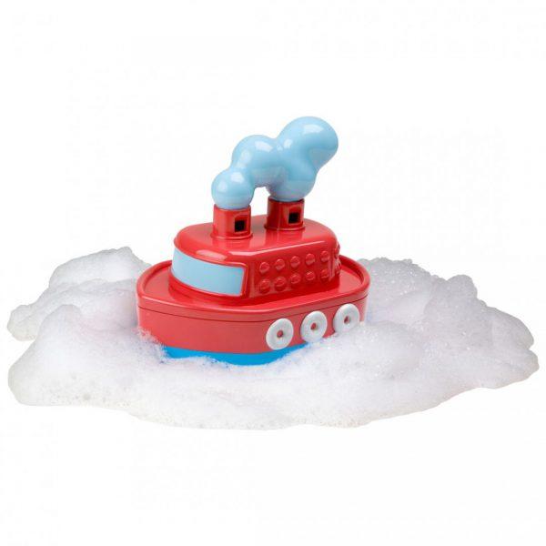 צעצועי אמבט - ספינה גוררת עם צפצוף אויר
