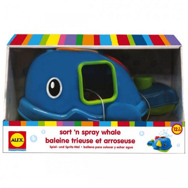 צעצועי אמבט - לוייתן התאמת הצורות המשפריץ