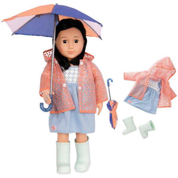 חליפת גשם ומטריה