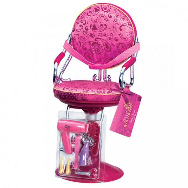 כסא מספרה וכלי עיצוב שיער
