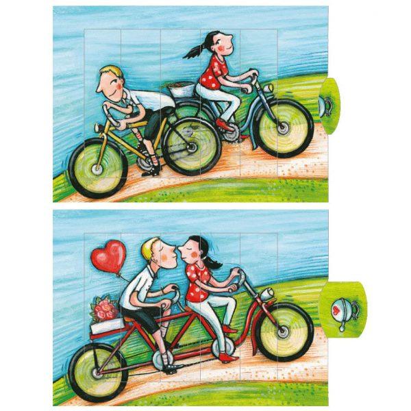 כרטיס ברכה אופניים