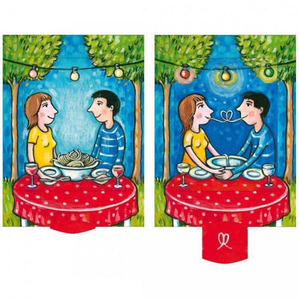 כרטיס ברכה ארוחה רומנטית