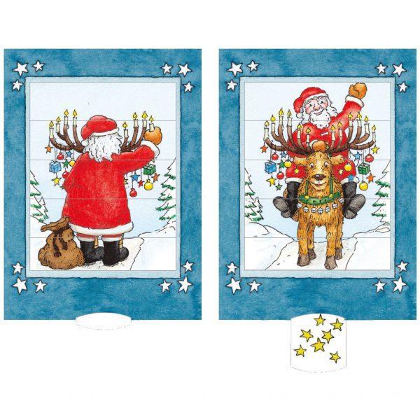 כרטיס ברכה סנטה קלאוס