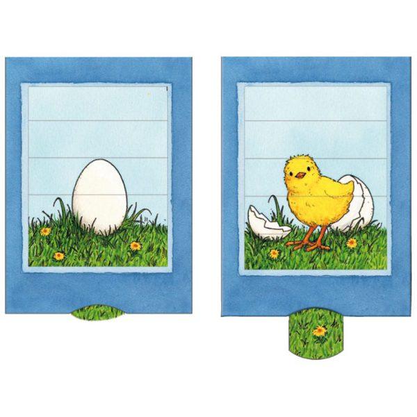 כרטיס ברכה ביצה אפרוח