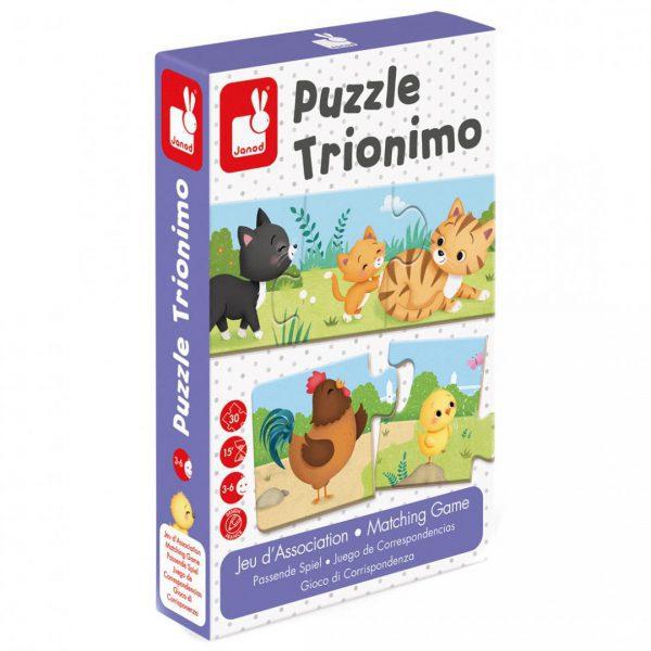 משחק פאזל התאמה 30 חלקים Trionimo