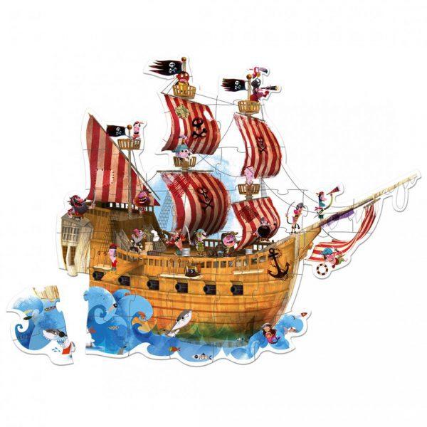 פאזל רצפתי ענק 39 חלקים - ספינת הפיראטים