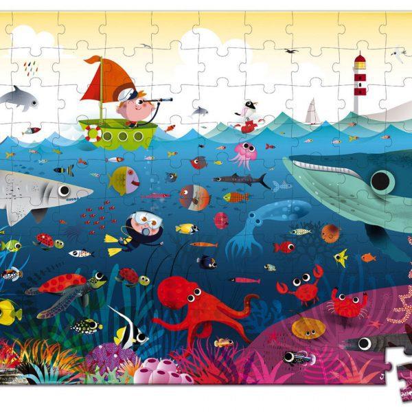 פאזל 100 חלקים - עולם הים