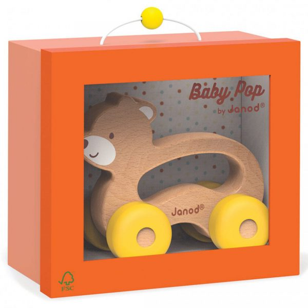 צעצוע דוב על גלגלים