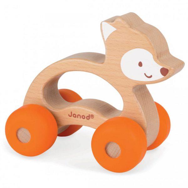 צעצוע שועל על גלגלים