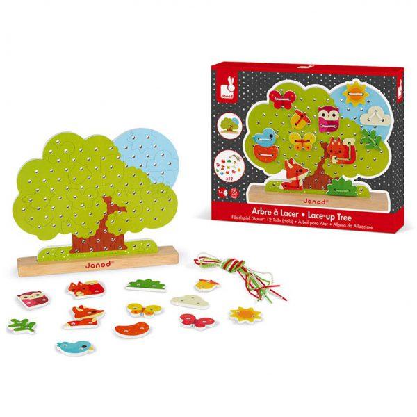 משחק השחלה עץ