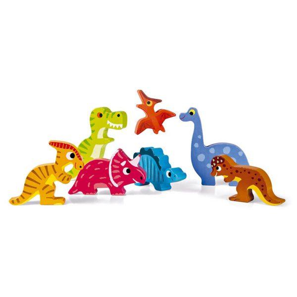 פאזל התאמות מעץ דינוזאורים 7 חלקים