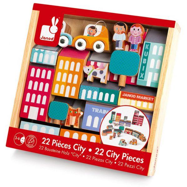 קוביקס משטח משחקי קוביות העיר 22 חלקים