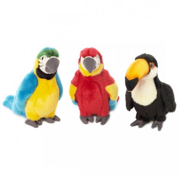 """ציפורים טרופיות - 3 סוגים - 18 ס""""מ"""