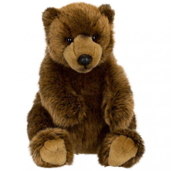 """דוב גריזלי יושב 23 ס""""מ"""
