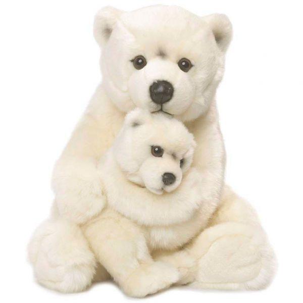 """דובי קוטב אמא וגור 28 ס""""מ"""