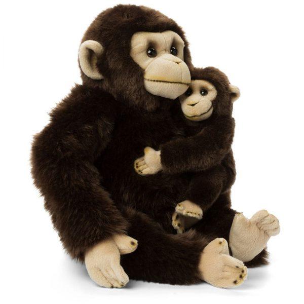 """שימפנזים אמא וגור 30 ס""""מ"""