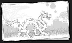 דפי צביעה דרקון