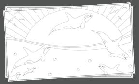 דפי צביעה דולפין