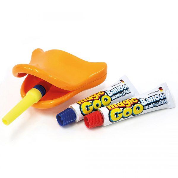 משחה בלונים Magic Goo עם כלי נשיפה ברווז